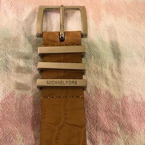 New w/ Tag Michael Kors Tan Leather Belt Small